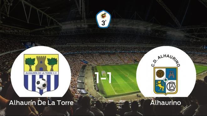 El Alhaurín De La Torrey el Alhaurinose reparten los puntos en el Los Manantiales (1-1)