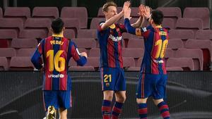 ¡Qué jugada de De Jong! Leo Messi no falló el regalo del holandés