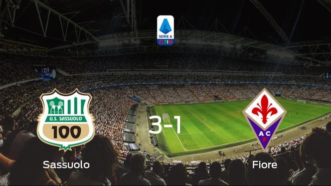 El Sassuolo vence 3-1 en casa a la Fiorentina