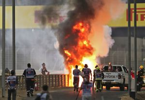 Espectacular accidente de Grosjean