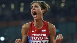 Blanka Vlašić, durante el Mundial de Atletismo de 2015.