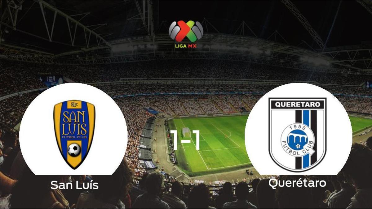 El San Luísy el Querétarose reparten los puntos y empatan 1-1
