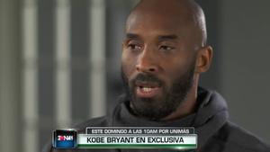 Kobe Bryant, en el momento de la entrevista