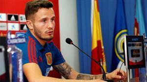 Saúl habló ante los medios antes del encuentro ante Croacia