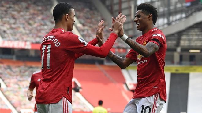 Greenwood y Rashford brillaron ante el Burnley