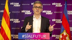 Víctor Font, candidato a la presidencia del Barça, analizó la actualidad electoral blaugrana