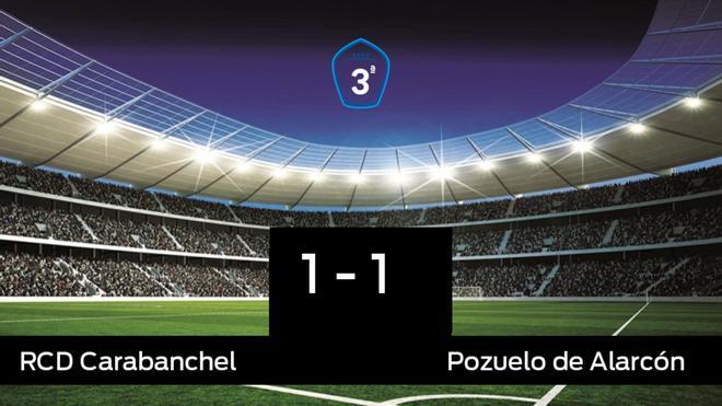 El RCarabanchel y el Pozuelo de Alarcón sólo sumaron un punto (1-1)