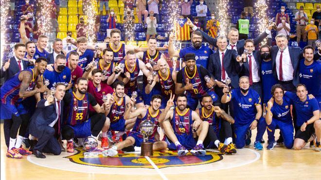 El Barça celebra la Liga Endesa