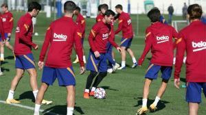 Así ha sido el último entrenamiento del Barça antes de medirse al Betis