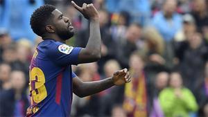 LALIGA   FC Barcelona - Valencia (2-1): El gol de Umtiti