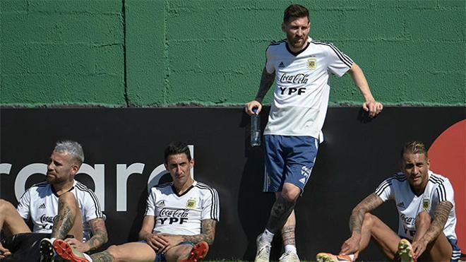 La tranquilidad de Messi en el entrenamiento