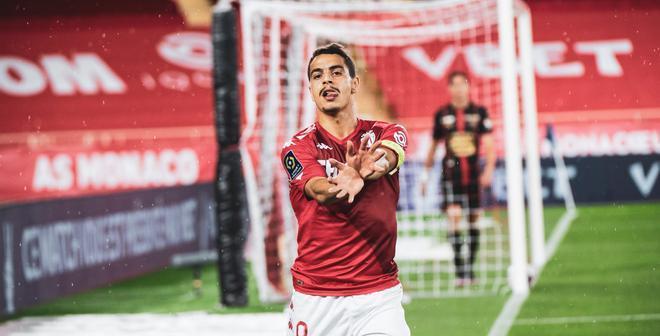 Ben Yedder celebra el primer tanto del Mónaco ante el Rennes