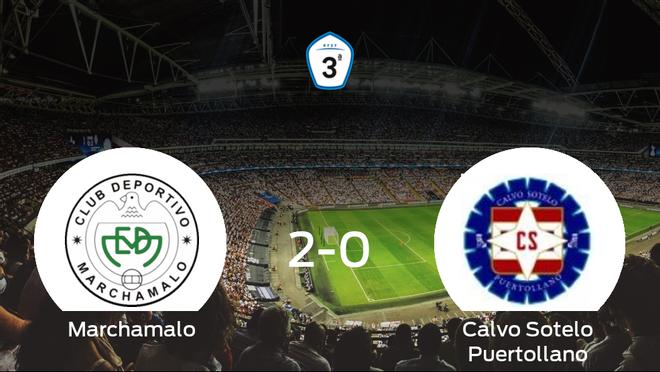 El Marchamalo vence 2-0 en su estadio frente al Calvo Sotelo Puertollano