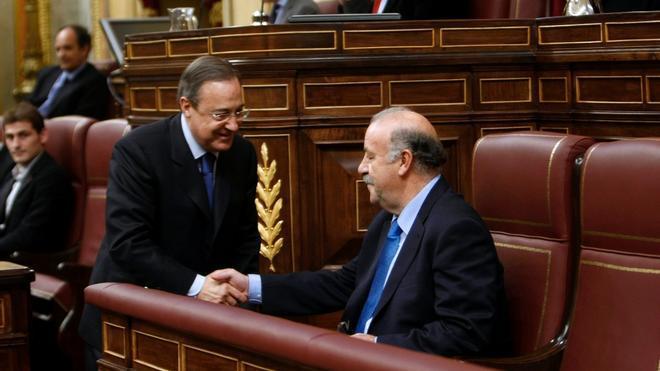 Florentino Pérez y Vicente del Bosque