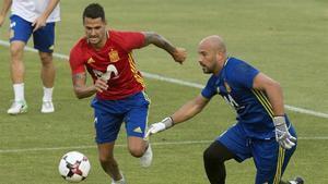 Vitolo se encuentra concentrado estos días con la selección española