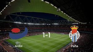 El CF Ardoi y la Peña Sport se reparten los puntos tras su empate a uno
