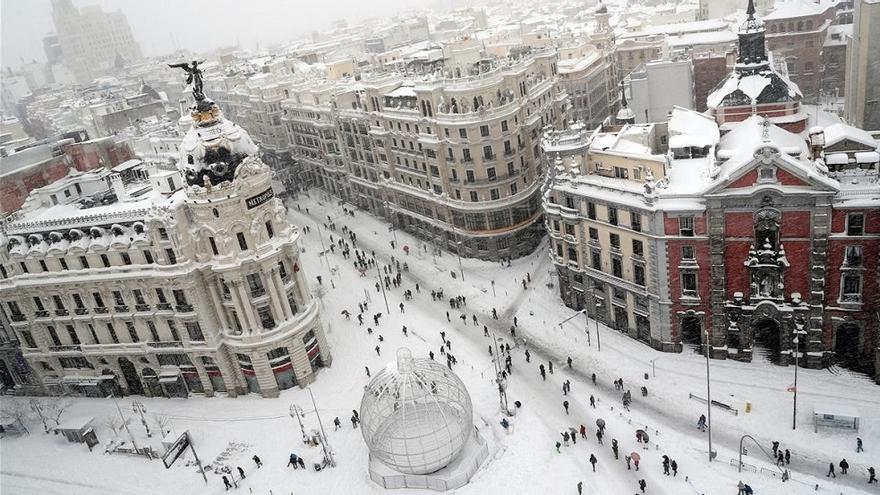 Así ha sido la nevada que ha dejado 'Filomena' desde estas impresionantes imágenes satelitales