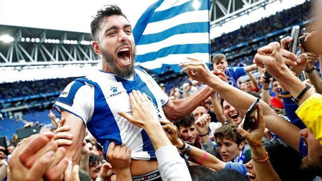 Borja pisó y dejó huella en el RCDE Stadium