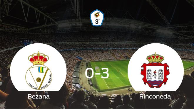 El Rinconeda logra una goleada en el estadio del Bezana (0-3)