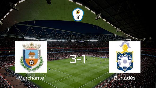 El Murchante suma tres puntos después de vencer 3-1 al Burladés