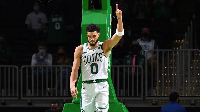 Jayson Tatum, durante un partido con los Boston Celtics