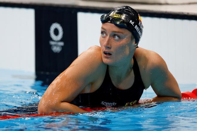 La nadadora española Mireia Belmonte, durante su participación en Tokio 2020