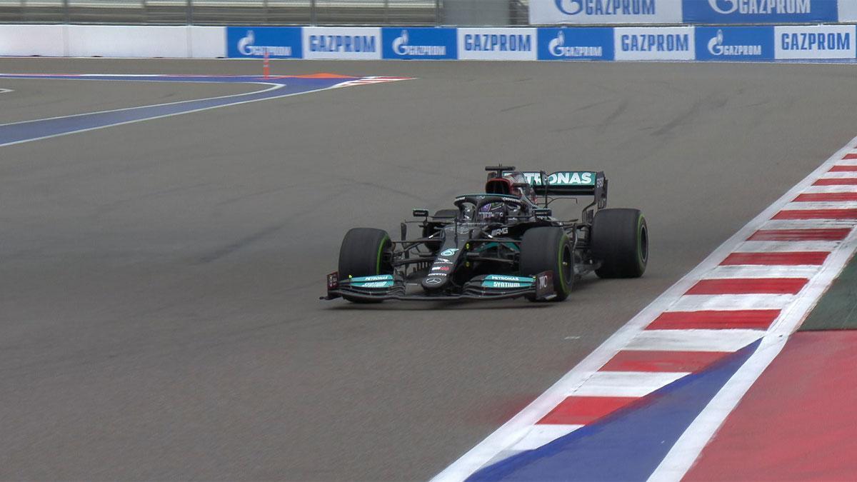Hamilton, el más rápido en la clasificación de Rusia
