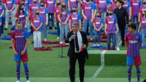 La presentación de la nueva equipación del FC Barcelona