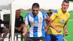 David López, en el partido contra el Cádiz