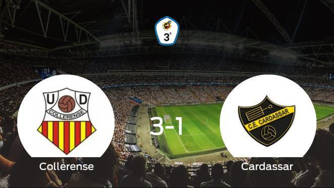 El Collerense consigue la victoria en casa frente al Cardassar (3-1)
