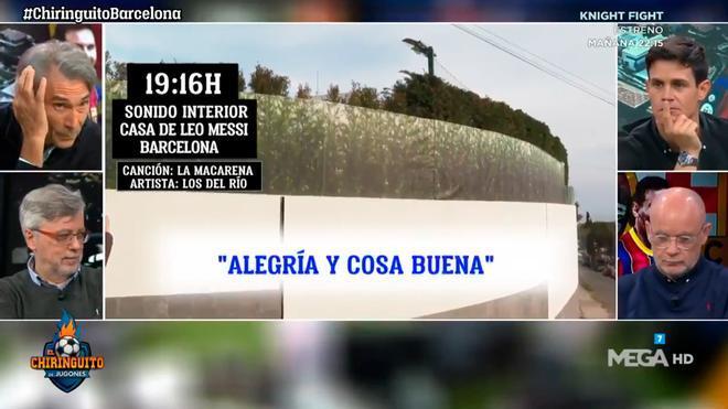 El Chiringuito desveló qué música sonó en la conjura del Barça en casa de Messi