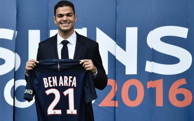 Hatem Ben Arfa, en su presentación como nuevo jugador del PSG