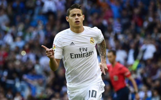 James Rodríguez, centrocampista del Real Madrid, es pretendido por el Arsenal de Arsene Wenger