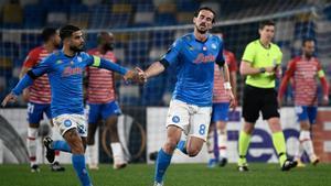 Fabián Ruiz marcó el segundo del Nápoles... aunque no sirvió de nada