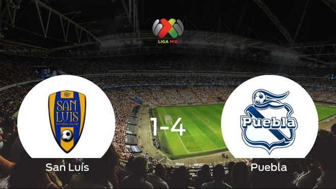 El Puebla se queda con los tres puntos ante el San Luís (1-4)