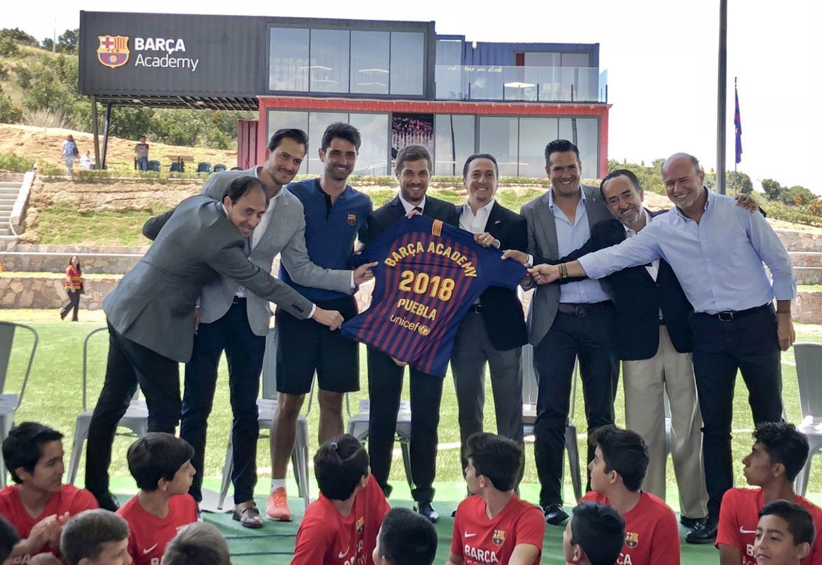 La inauguración de la Barça Academy Puebla tuvo lugar en sus instalaciones en Haras Ciudad Ecológica