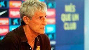 Setién pide que el Barça-Nápoles se juegue en el Camp Nou