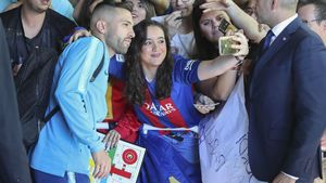Jordi Alba cambia un parchís por una foto
