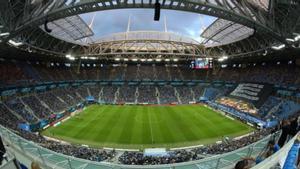 El estadio Krestovski de San Petersburgo