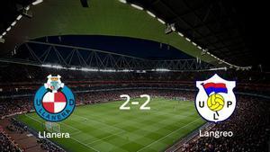 El Ud Llanera y el Langreo empatan 2-2 y se reparten los puntos