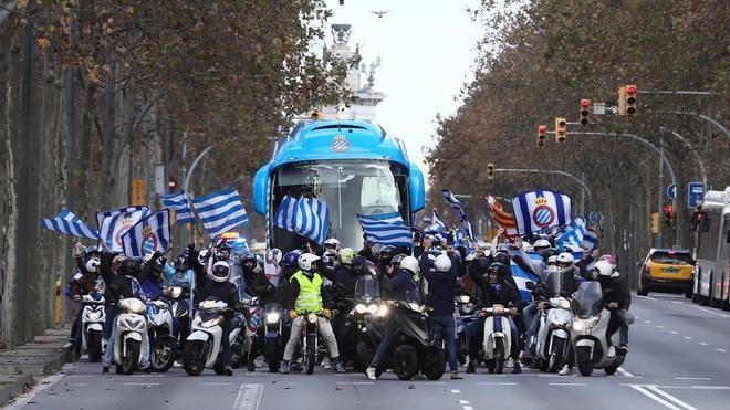 La afición acompañará en motocicletas al equipo hasta el RCDE Stadium