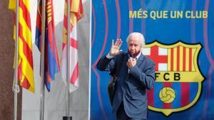 Carles Tusquets a la salida de las oficinas del FC Barcelona este miércoles