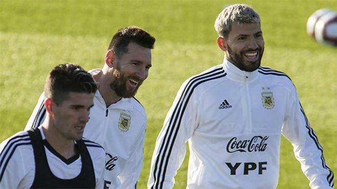 La Argentina de Messi entrena en Mallorca