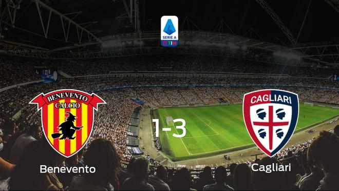 El Cagliari se impone al Benevento y consigue los tres puntos (1-3)