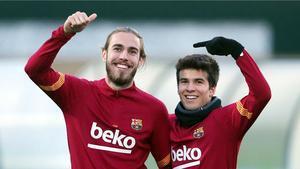 El FC Barcelona se entrena con la mente puesta en el Cádiz