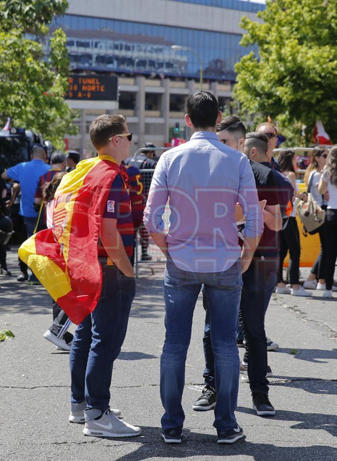 La fan zone del FC Barcelona en Madrid