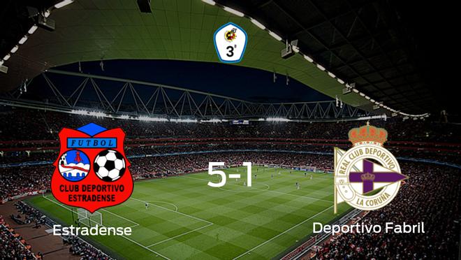 Tres puntos para el casillero del CD Estradense tras pasar por encima del Deportivo Fabril (5-1)