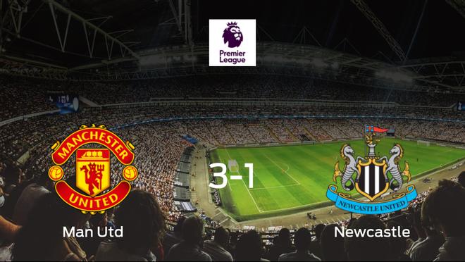 El Manchester United vence 3-1 en casa al Newcastle United