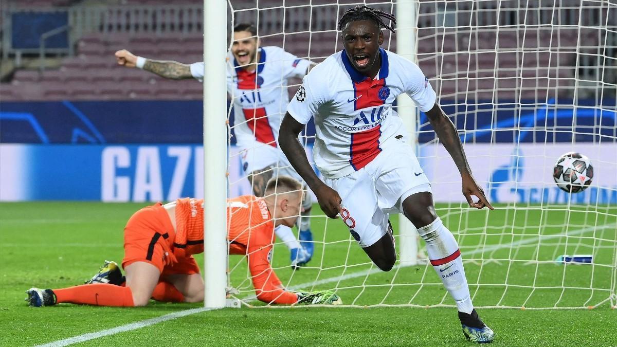 Moise Kean ha anotado el 1-3 ante el Barça en el Camp Nou