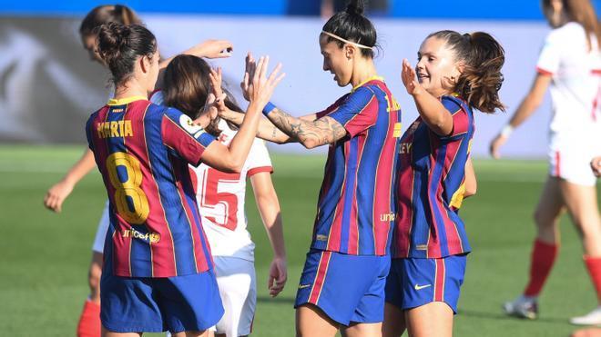 El Barça, a un tiro de piedra de conquistar la liga